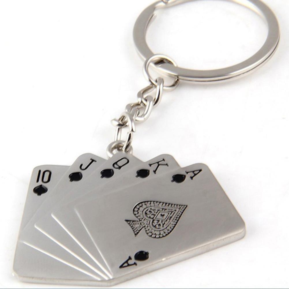 ZPL Fashion Flush Poker clave cadena hombres del coche Clave ...