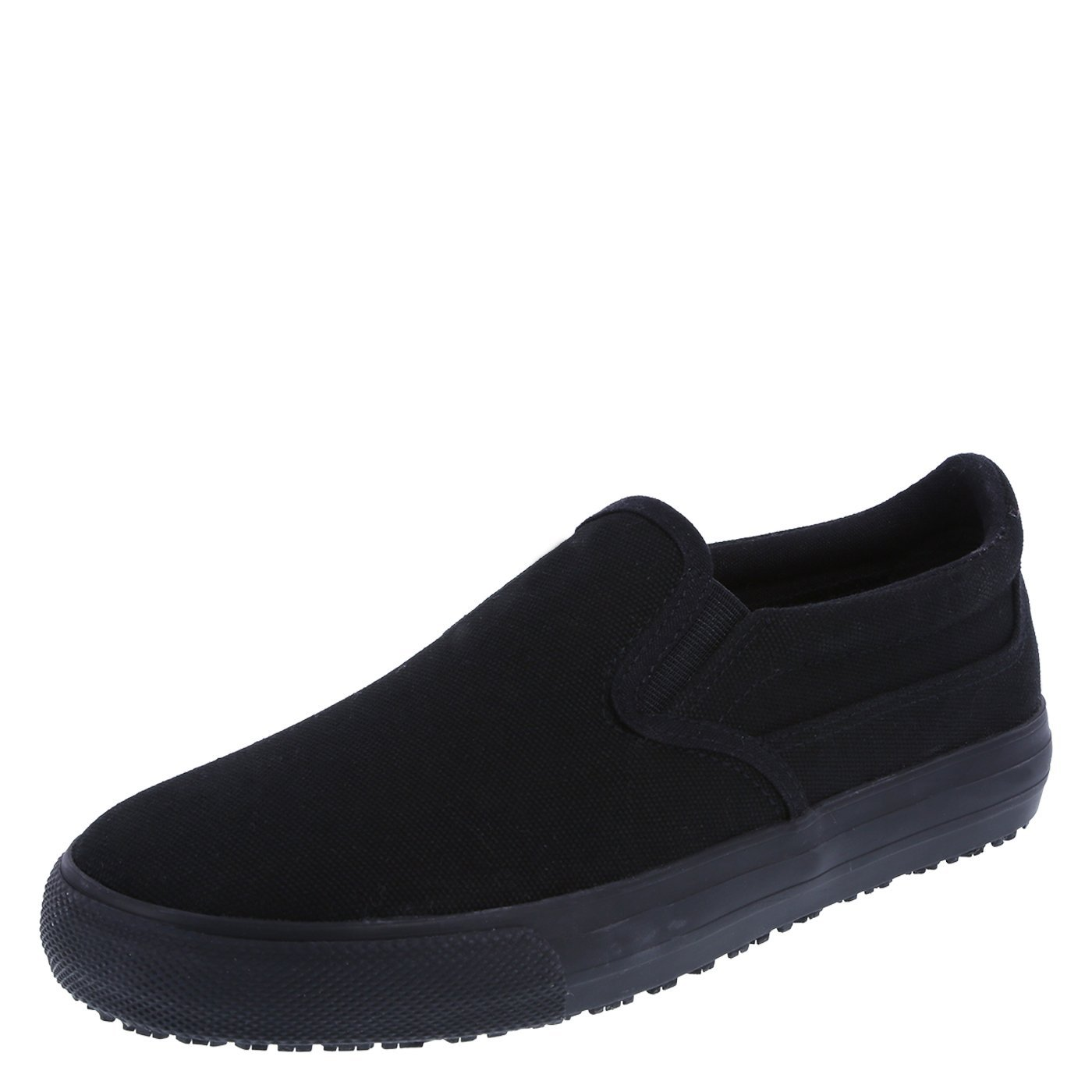 safeTstep Women's Black Canvas Slip Resistant Jen Slip-On 9.5 Regular