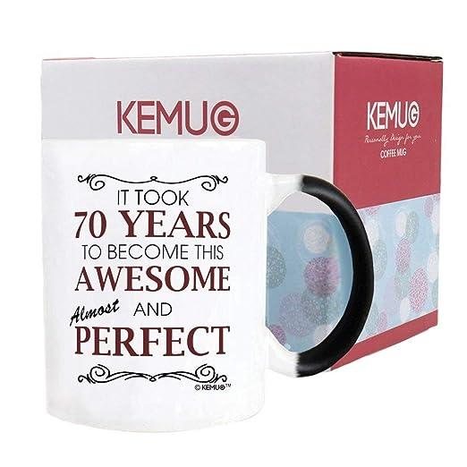 kemug - taza (cambia con el calor - 70th cumpleaños Regalos ...