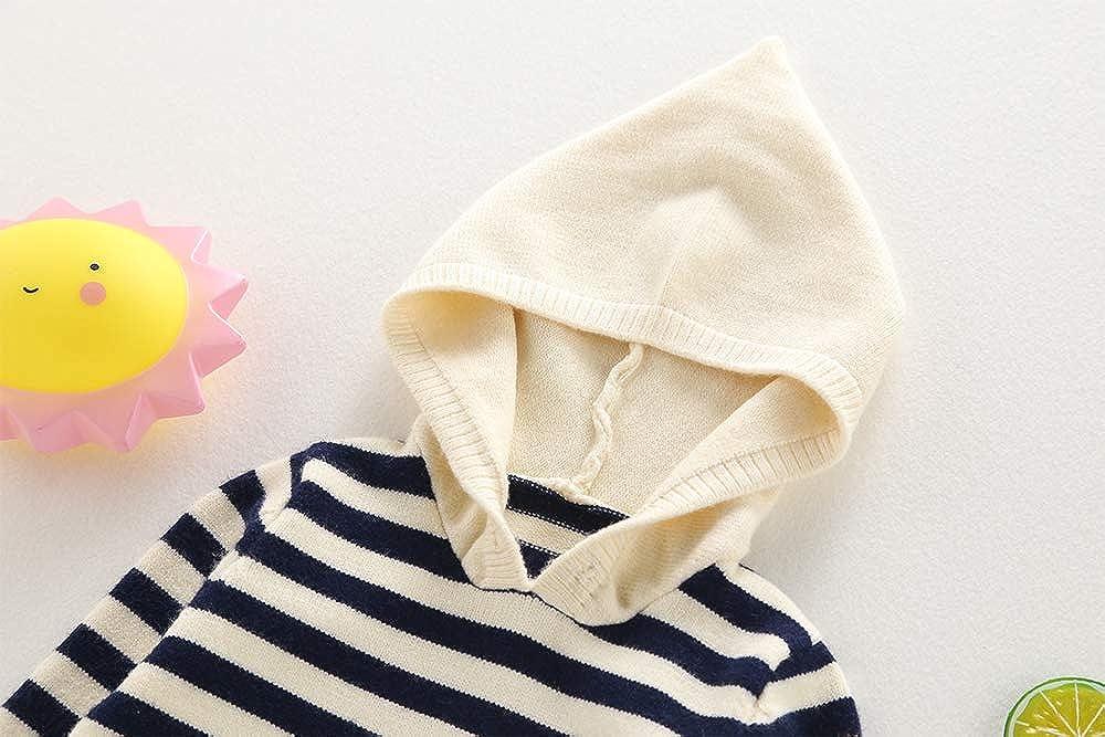 Baby boy//Toddler Moonnut Little Boys Crewneck Striped Pullover Sweater