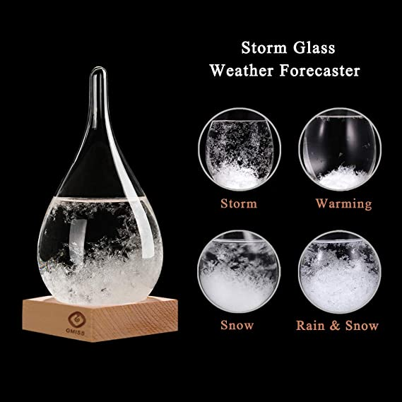 Christmas Snow Globe Creative Crystal Decoration Modern Concise Style Wooden Tabletop Art Ornament S GM GMISS Storm Glass Decorative Bottle Weather Forecaster Station Office Home Desktop Decor