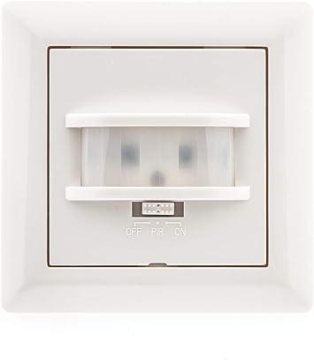 HUBER MOTION 9, detector de movimiento de 160 °, blanco, muy sensible debido a 2 sensores, tecnología de 2 hilos, también para otras series de interruptores con cuadros de 55 x 55 mm: Amazon.es: Bricolaje y herramientas