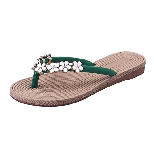 625807546689 Housesczar Fashion Bohemia Floral Flip Flops Women Flat Summer Sandals  Casual Beach Slippers  Buy Online at Low Prices in India - Amazon.in