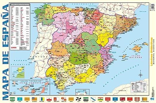 Erik LPD208 - Lámina Didáctica Mapa De España: Amazon.es: Juguetes y juegos