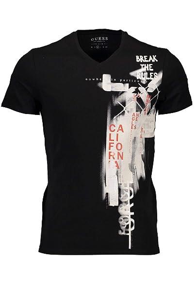GUESS Jeans M83I23J1300 Camiseta con Las Mangas Cortas Hombre: Amazon.es: Ropa y accesorios