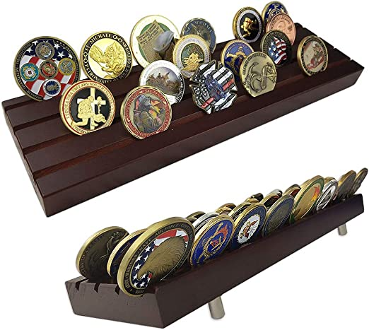 Pine Home Wood Coin Holder Storage Box f// Collectible Commemorative Storage Case