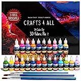 Fabric Paint 3D Permanent 24 Colors Set Premium Quality Vibrant Color...