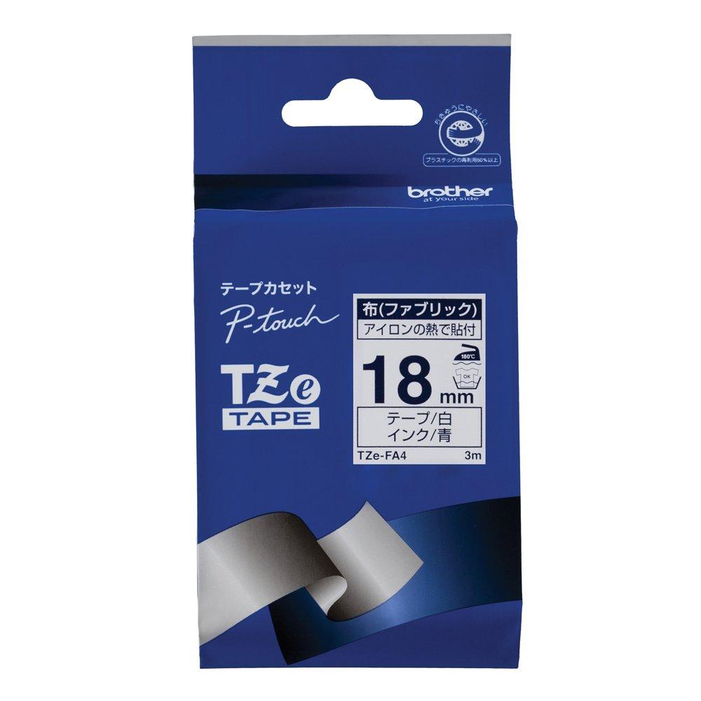 Brother TZe tape cloth tape (white / blue) 18mm TZe-FA4 (japan import)