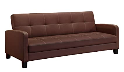 Amazoncom DHP Delaney Sofa Sleeper in Rich Faux Leather