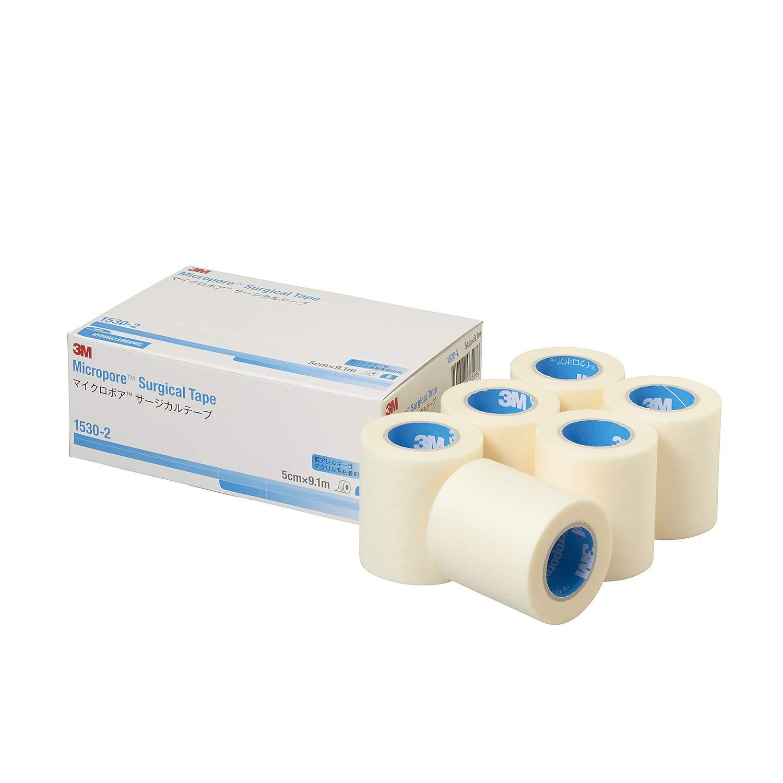 """3M Micropore Paper Tape - White, 2"""" Wide - 1530-2 - Box of 6"""