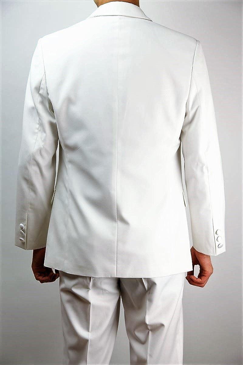 Wonder Stage Mens Slim Fit 4 Pc White Tuxedo Suit Jacket Pants Vest Ascot Tie