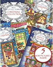 Nice Little Town Christmas Collection: Adult Coloring book (All nice little town Christmas books collection, Stress relieving designs.)