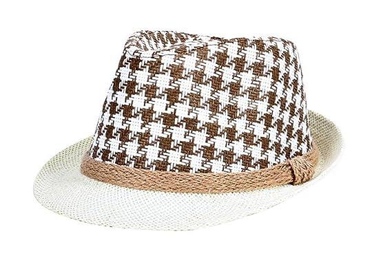 1f71ef378c0 Westeng Straw Hat Men Beach Sun Hat Jazz Style Decoration Sun Protection   Amazon.co.uk  Clothing