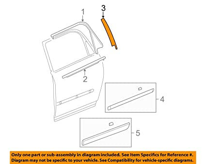 genuine gm 22825481 window frame applique right front moldings rh amazon ca