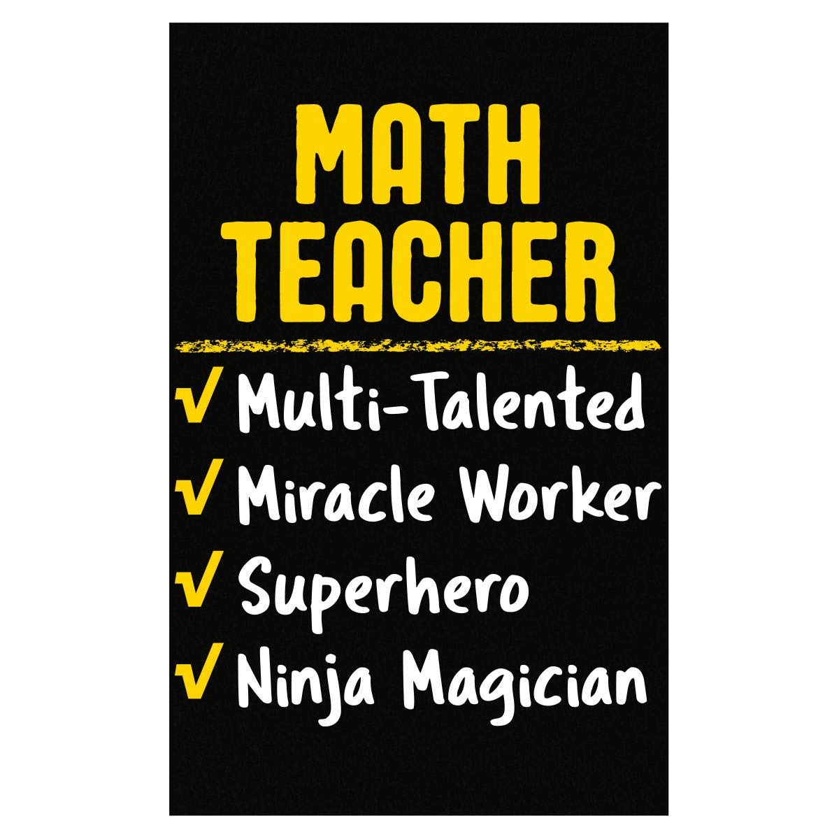 Amazon.com: Math Teacher Miracle Worker Superhero Ninja ...