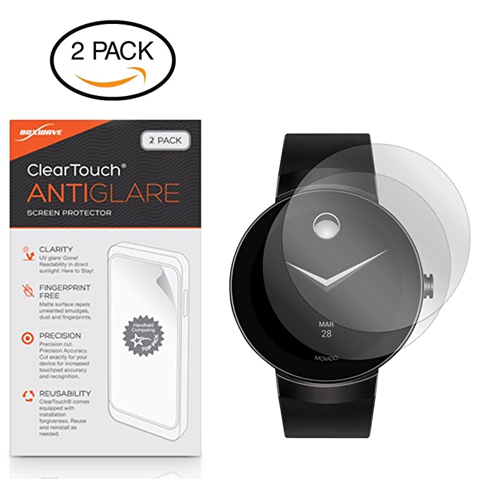 Amazon.com: Movado Connect Screen Protector, BoxWave [ClearTouch Crystal (2-Pack)] HD Film Skin - Shields From Scratches for Movado Connect: Cell Phones & ...