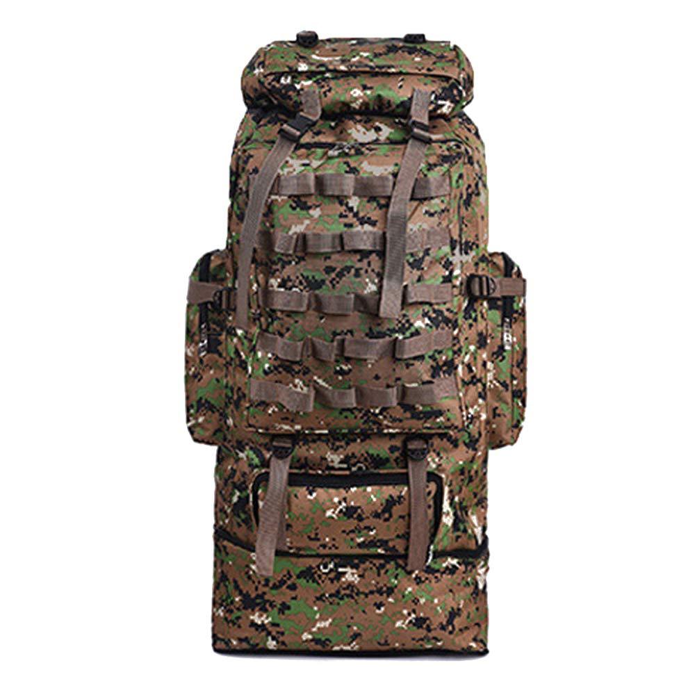 Sac /à Dos Randonn/ée Grande Contenance 100L Camouflage-Gris Imperm/éable Alpinisme Escalade Trekking Backpack