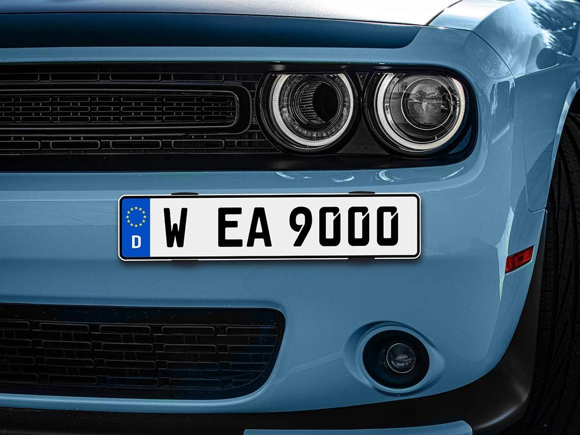 Eufab 17028 Befestigungsset Für 2 Kfz Kennzeichen Simple Fix Auto