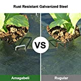 Amagabeli 6 Inch Garden Stakes Galvanized Landscape Staples 500 Pack Heavy Duty Sod Pins Fence Stakes for Anchoring Weed Barrier Fabric Ground Cover Landscaping Tubing Garden Staples