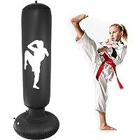 Nabance Saco de Boxeo Inflable, 150cm Saco de Boxeo Hinchable de Pie para Niños, PVC Fitness Boxeo Inflable Saco de…