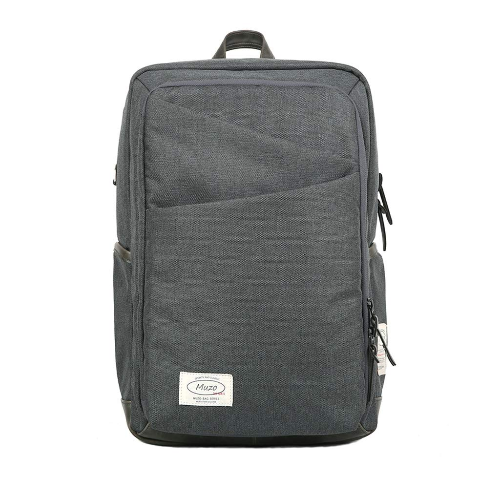HLJ メンズ多機能コンピュータのバックパックシンプルなレジャートラベルバッグクリエイティブファッション学生バッグ (Color : Gray, Size : 28 * 15 * 45cm) 28*15*45cm Gray B07J5C162S