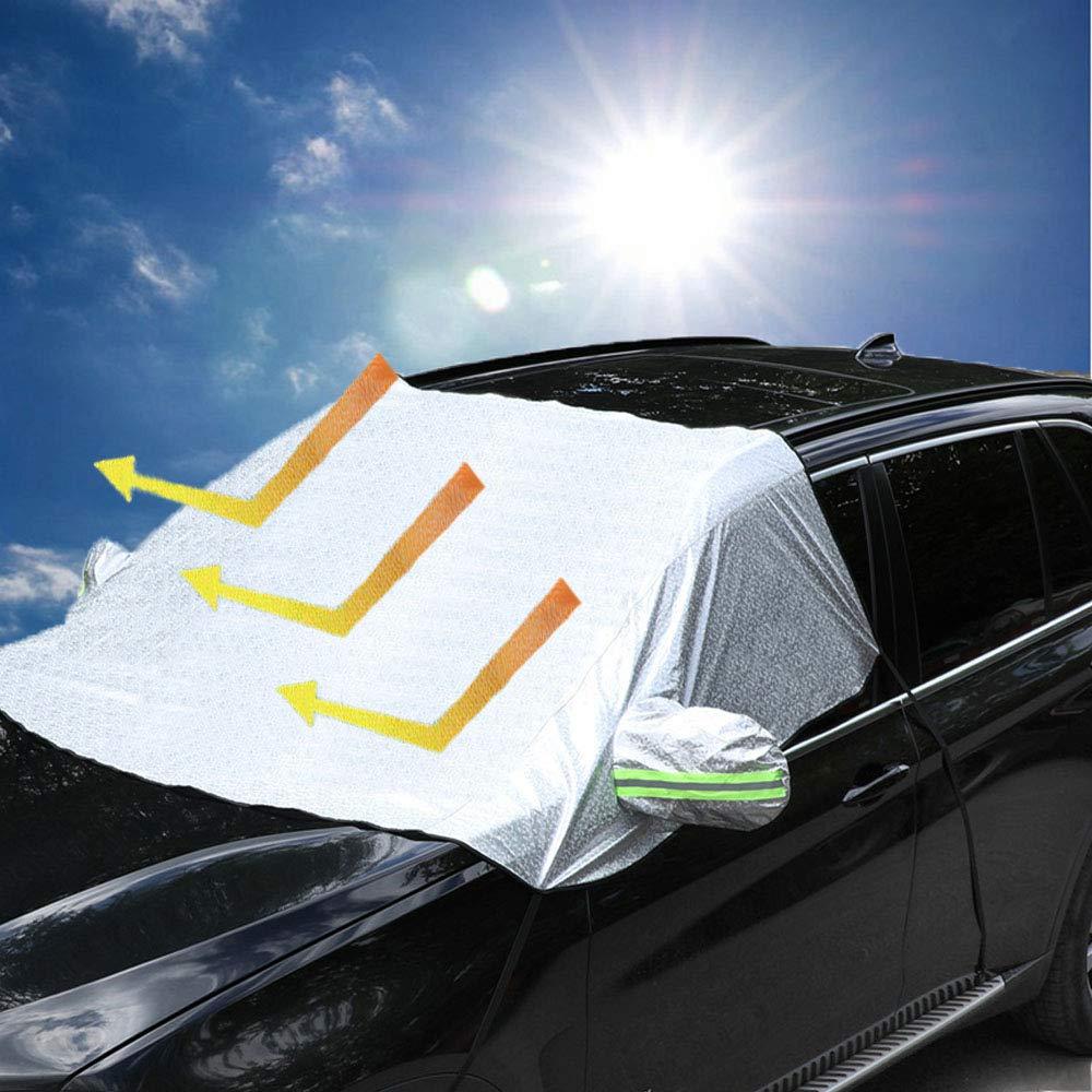 51 x 27 Car Windshield Sunshade Protector Powertiger Foldable Sun Shade for Car Windshield Universal Car Window Sun Shade UV Protection Keep Vehicle Cool Front Window Sun Shade