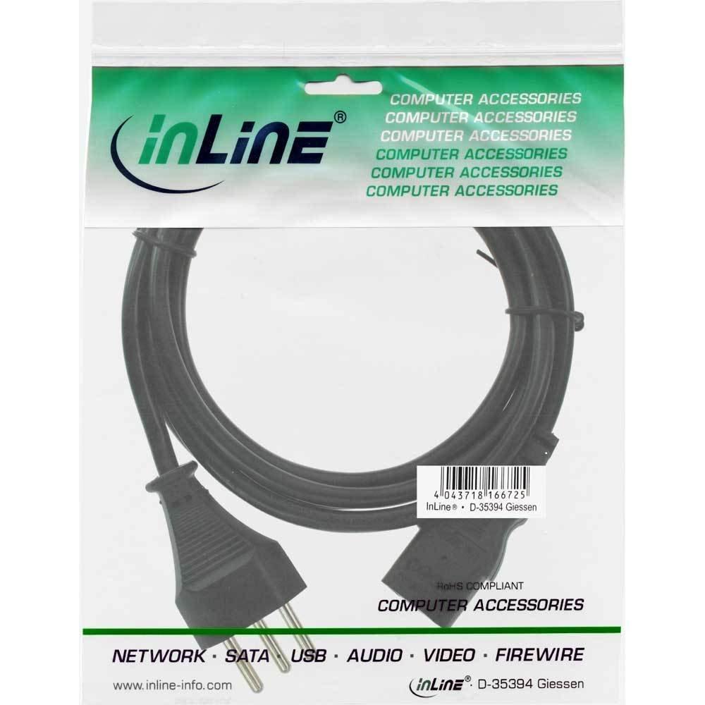 Netzstecker auf Kaltger/ätestecker C13 InLine 16651R Netzkabel 1m schwarz