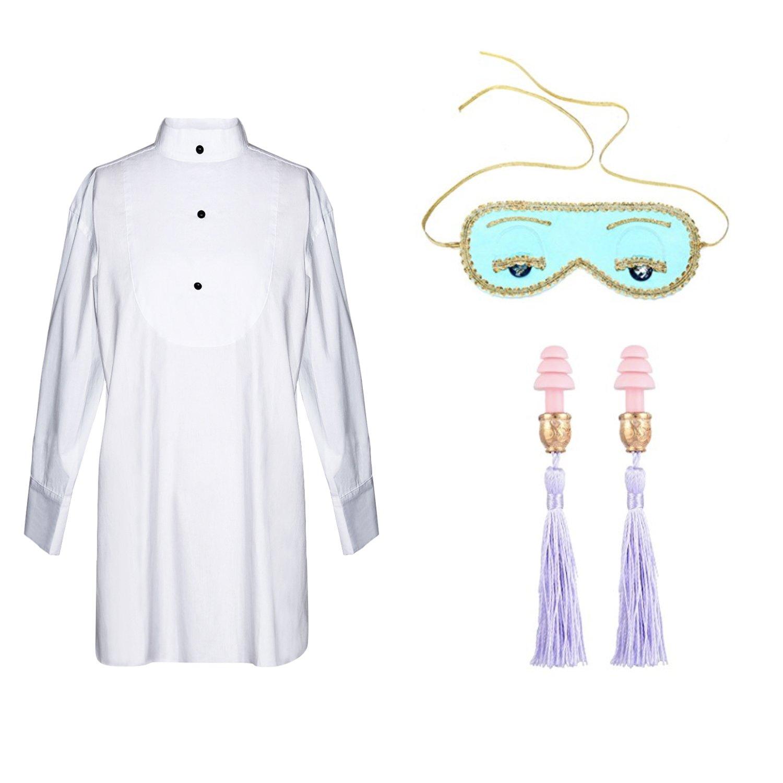 Sleep Set from Audrey Hepburn Breakfast at Tiffany's (set includes sleep shirt/eye mask/tassel ear plugs) (original)