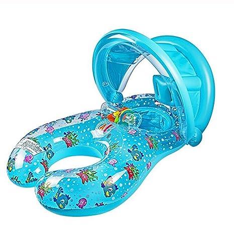 L&ZR Flotador para Bebés Inflatable Swim Ring para Bebés, Mamá Y Bebé Flotador para Piscina