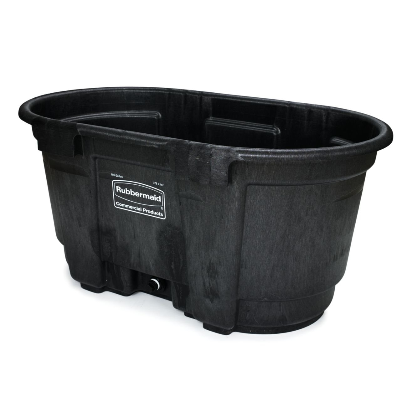 Rubbermaid Commercial FG424288BLA Structural Foam Stock Tank, 100 Gallon Capacity, 53'' Length x 25'' Height, Black by Rubbermaid Commercial Products (Image #3)
