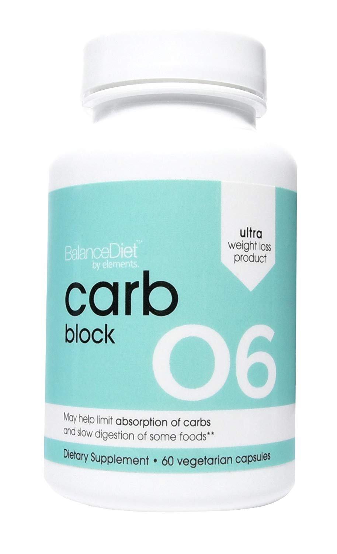 BalanceDiet Carb Blocker Highly Effective 100% Natural Carb Blocker with Nopal Cactus 60 Capsules by BalanceDiet