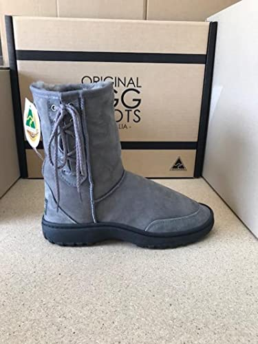 e5cf4bf0e92 spain grey lace up ugg boots a63eb 8d541