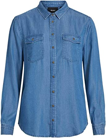 Object Objlanie L/S Shirt Noos Camisa para Mujer: Amazon.es ...