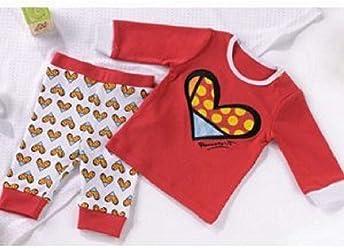 Romero Britto Girls 2 Piece Playwear- Red 6-12 Months