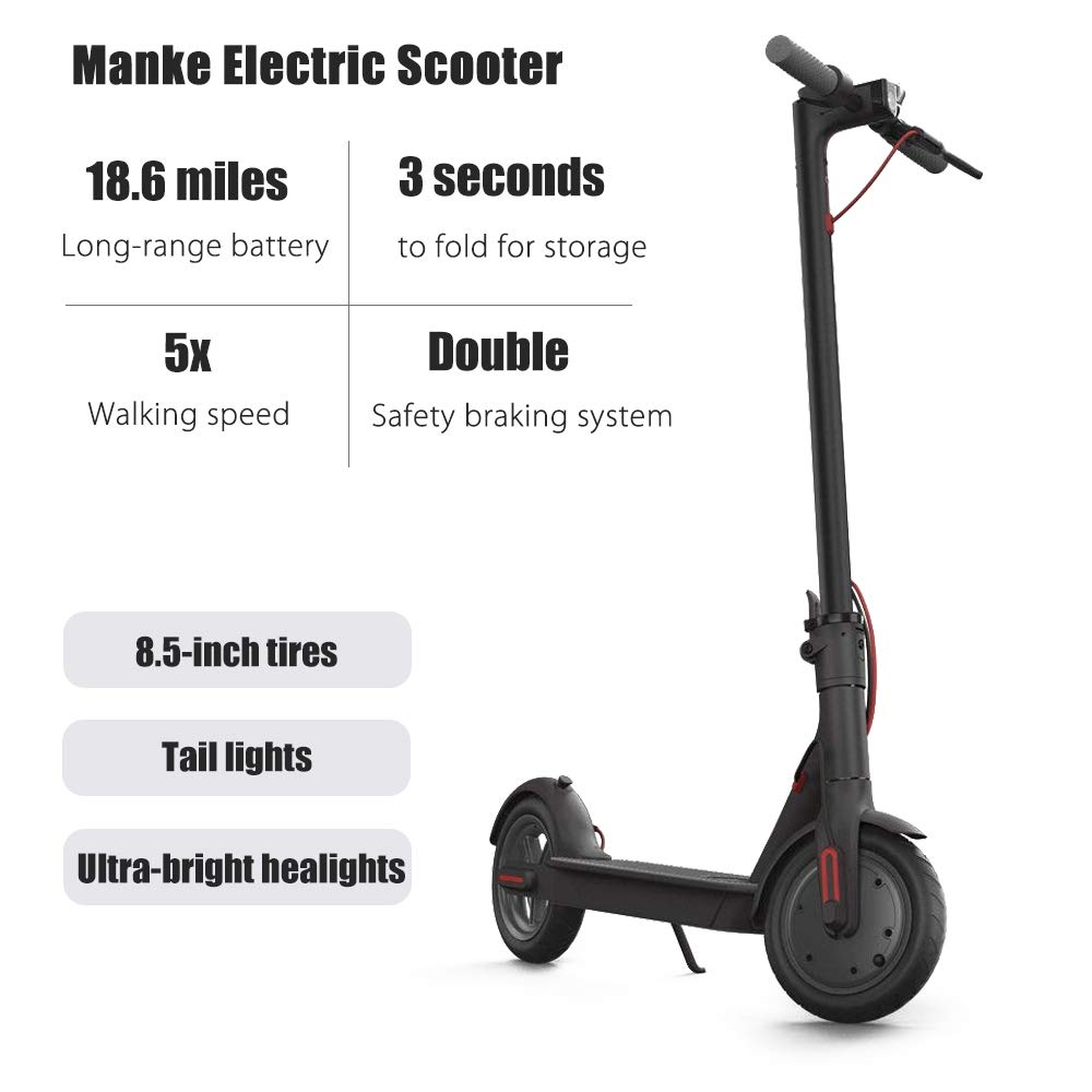 Amazon.com: WiLEES Manke - Patinete eléctrico plegable (15,5 ...