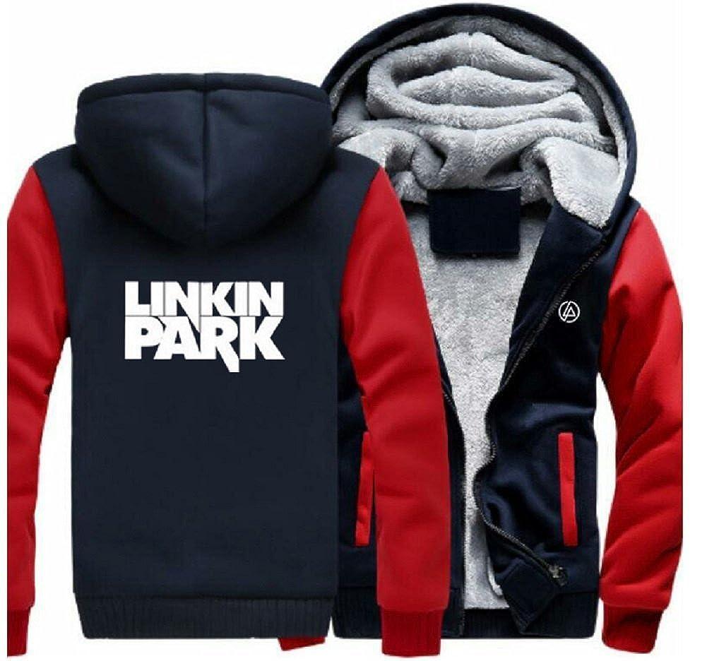 LP Rock Band Hoodie Jacke Erwachsene Jugendliche Winter Plus Samt Dicke Zipper Sweatshirt Kapuzenpullover Kleidung Cosplay Kost/üm
