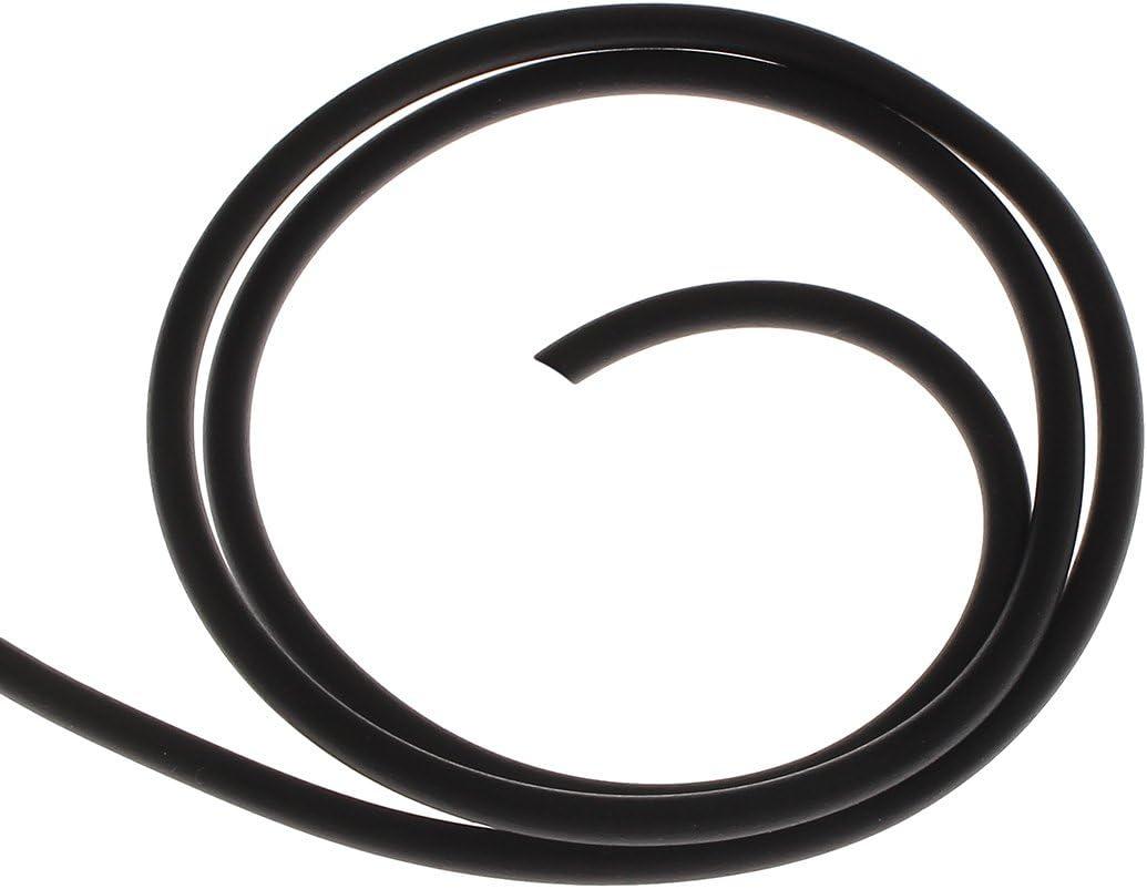 Perlin 5 Meter Kautschukband 5mm Kunstleder Schwarz Kautschukschnur Schmuckband Kette Set Band f/ür Halsketten DIY Schmuck Herstellung C10