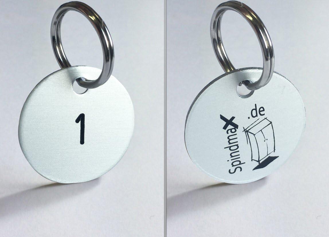 Marques Systèmes de clés en aluminium anodisé Ø 30mm, 1–25numérotées de vestiaire Max
