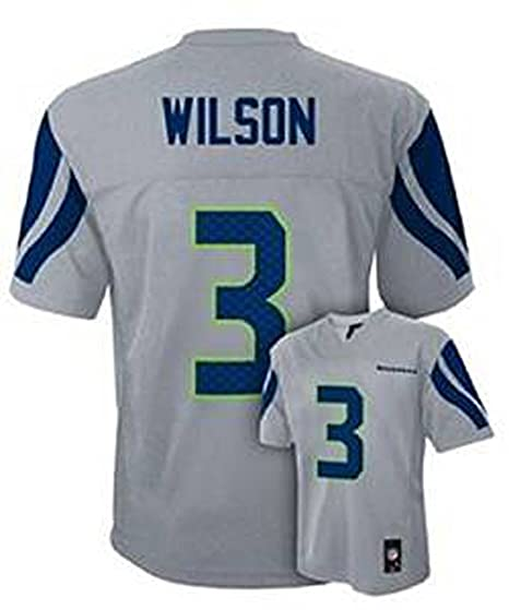 Amazon.com   Russell Wilson Seattle Seahawks Gray Kids 4-7 NFL ... 109855de62c2