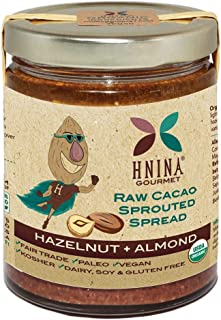 product image for HNINA Gourmet Organic Sprouted Nuts & Raw Cacao Spread - Hazelnut + Almond