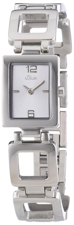 s.Oliver Damen-Armbanduhr Analog Quarz Edelstahl SO-2810-MQ