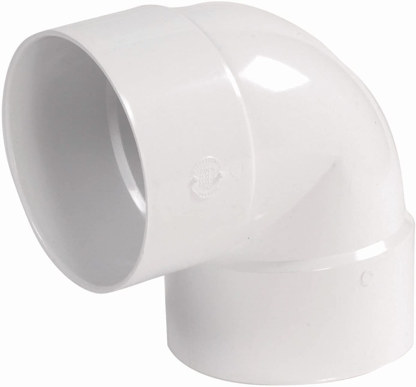 NDS 6P02 PVC 90-Degree Elbow Solvent Weld Fitting, 6-Inch, White
