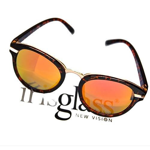 IRIS GLASS Gafas de sol con Cristales de Espejo de alta calidad, Armadura de Policarbonato con motiv...