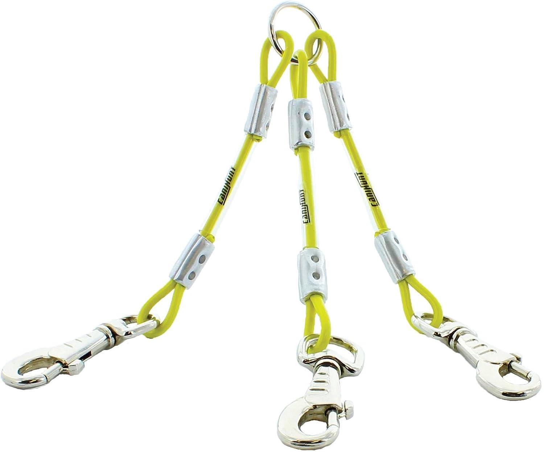 Accouple 3 chiens longueur 25cm, diamètre 3/5 mm environ, cable métallique gainé CANIHUNT