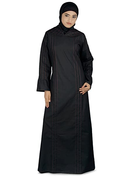 b7bc3826b71 MyBatua Women s Islamic Attire Black Cotton Zoha Abaya Burqa  Amazon.ca   Clothing   Accessories