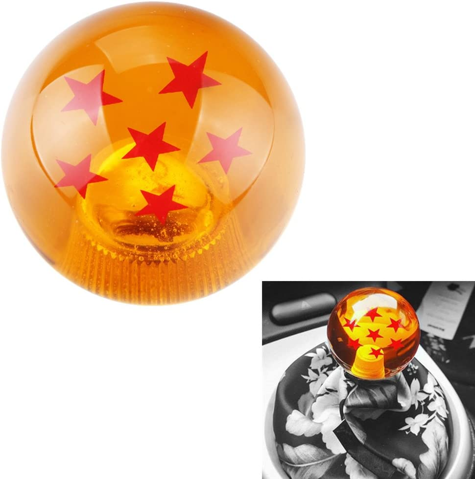 DEWHEL 54MM Dragon Ball Z Manual Gear Shift Shifter knob JDM 4 5 6 Speed 4 Star Round Universal Fit for Honda Acura Mazda Mitsubishi Nissan Infiniti Lexus Toyota Scion BRZ Hyundai Ford Jeep etc
