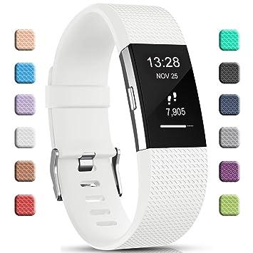 Gogoings Bracelet pour Fitbit Charge 2 - Bracelet Silicone Fitbit Bande de Rechange Réglable Souple Sport