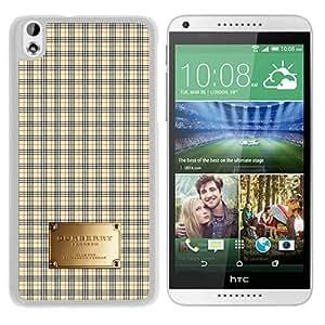 HTC Desire 816 Case,Burberry 50 White HTC Desire 816 Screen Cover Case Luxury and Unique Design