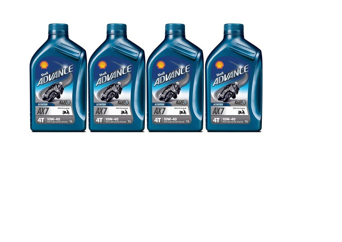 SHELL ADVANCE 4T AX7 10w40 4 barattoli da 1 litro = 4 litri
