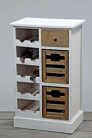 boltze meuble range bouteilles en bois blanc